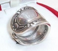 Antiker Silberring  Besteckschmuck 18,3 mm SR185 von Atelier Regina auf DaWanda.com