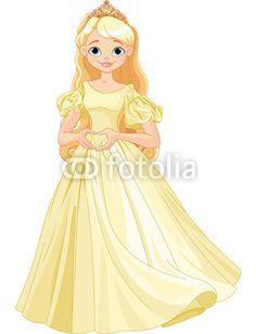 Princess makes heart shape