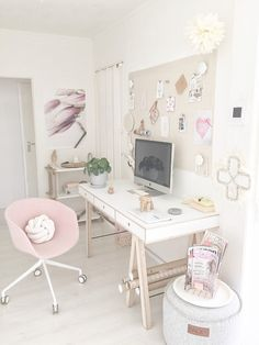Binnenkijken bij soohme - Luuv the soft colours in my workspace