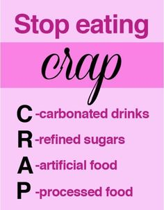 Stop eating crap. What you put in your body affects your mind and your mood.