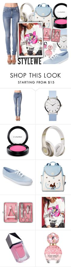 """StyleWe #8"" by beenabloss ❤ liked on Polyvore featuring MAC Cosmetics, Beats by Dr. Dre, Keds, GUiSHEM and Marc Jacobs"