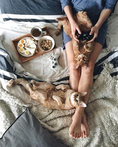 This would be lovely morning...maybe replace the game controller with a book now…
