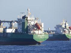 Puerto de Las Palmas. Gran Canaria     : Green Bodo Reefer ..Vessel fondeado en el Puerto d...