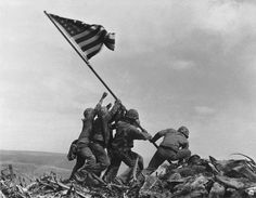 Raising the Flag at Iwo Jima.  Of the six men depicted in the picture, three (Franklin Sousley, Harlon Block, and Michael Strank) were killed during the battle.