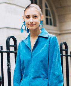 Street style bijoux à la Fashion Week printemps-été 2018 de Londres