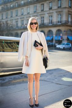 4 Fabulous Way To Wear White On White Dresses - Trend To Wear