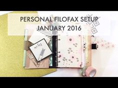January 2016 Personal Size Planner Setup Filofax Nude Original - Productivity & Planner Peace - YouTube