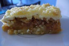 Jak upéct drobenkový jablečný koláč s tvarohem   recept