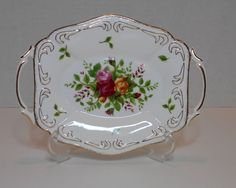 Royal Albert Old Country Roses Rare Handled Grandeur Tray, Excellent Condition #RoyalAlbert