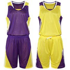 de6be4126 Men s Basketball Jersey Reversible Suit Shirt Shorts Team Training