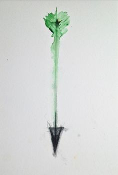 I definitely want a watercolor/green arrow tattoo
