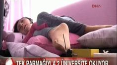 Kas hastalığı yüzünden yatağa mahkum ama Tek parmağı ile 2 Üniversite okuyor   güncel sağlık haberleri ve videoları deva arayanlar
