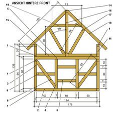 Building instructions: play house for children with half-timbered facade-Bauanleitung: Spielhaus für Kinder mit Fachwerk-Fassade Building instructions: play house for children with half-timbered facade -