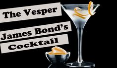 The Vesper Cocktail - How To - From Casino Roayale - James Bond Martini ...