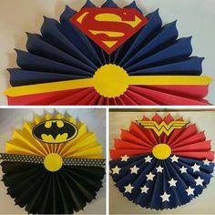 Abanicos superman y batman