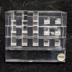 GUZZINI Sifthalter Ablage Acrylglas 1970 - cyan74.com - vintage & pop culture