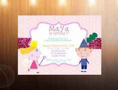 Ben and Holly's Little Kingdom Invitations by cherrycolashop