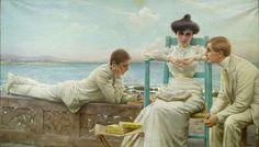 In lettura sul mare (1910) - Vittorio Corcos - #ARTEmisiaLegge - @Libriamo Tutti - http://www.libriamotutti.it/