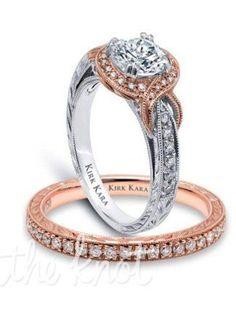 Trendy Diamond Rings : Rose gold