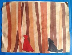 Little Red and the Wolf in the Woods This was a simple project, but resulted in storybook masterpieces!