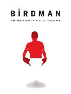 Birdman (2014) ~ Minimal Movie Poster by Matt Hodin #amusementphile