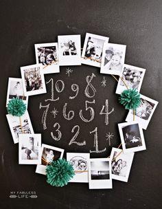 Cute New Year family photo wreath New Year's Crafts, Crafts To Do, Paper Crafts, New Year's Eve Celebrations, New Year Celebration, Photo Projects, Craft Projects, Christmas And New Year, Christmas Time