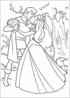 Disney Princess: Sleeping Beauty (Princess Aurora) Dancing With the Prince coloring page