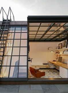 Greenwich Village Townhouse Boasts Cool Rooftop Office and Personal Secret Garden