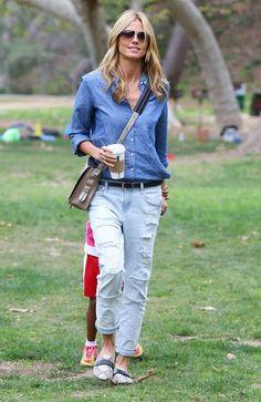 Vote! Which Celebrity Had the Best Weekend Street Style? // Heidi Klum
