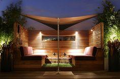 Terraza con madera y #césped artificial #www.stepongreen.com