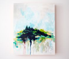 Maine abstract landscape painting by Megan Carty, Maine painting, island painting