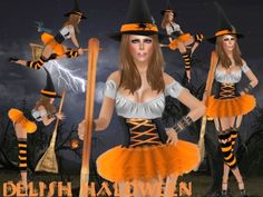 .:: DELISH ::. Halloween Costumes  + Skin + Shape - Witch V2 - Orange *Almost FREE*