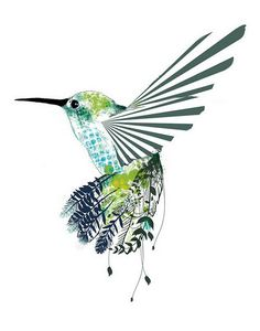 humming bird - would love to have more creative elements like this one. A more realistic head with the body becoming more artistic.