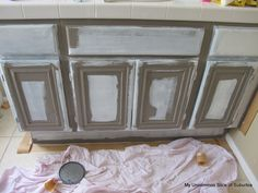 Painted bathroom cabinets (How to)