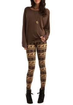 Deer Me Out Leggings in Bark, #ModCloth
