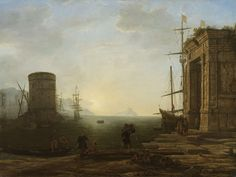 Claude (Le Lorrain) Gellée | c. 1637-1638 | Harbour at Sunrise