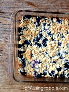 Blueberry Crumble Bars - (a)Musing Foodie