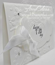 Stampin' Up! Wedding Card SideView
