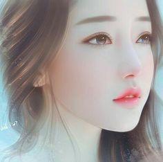 Image about girl in Art(♥ω♥*) by immeizuo on We Heart It Art Anime, Anime Art Girl, Manga Girl, Korean Art, Asian Art, Art Chinois, Lovely Girl Image, Beautiful Fantasy Art, Digital Art Girl
