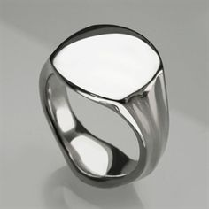 Signet Ring in Solid Sterling Silver & 9,14 & 18ct Gold - Personalised & Engraved Mens & Womens Ring - Stephen Einhorn London