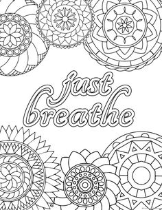 Stress relief coloring pages to help you find your Zen again - - Have you been dealing with a lot of stress lately? Then it's time to slow down and give yourself a little break with these gorgeous stress relief coloring pages. Abstract Coloring Pages, Quote Coloring Pages, Coloring Pages Inspirational, Printable Adult Coloring Pages, Mandala Coloring Pages, Free Coloring Pages, Coloring Books, Kids Coloring, Zentangle