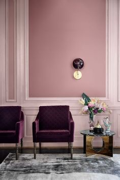 Ballroom Wall Sconce by Marie Burgos Design at Private Residence, New York Ballsaal-Wandleuchte von Marie Burgos Design in der Privatresidenz in New York Unique Lighting Styles Interior Modern, Interior Paint, Home Interior, Interior And Exterior, Interior Decorating, Color Interior, Purple Interior, Purple Home Decor, Home Decor Colors
