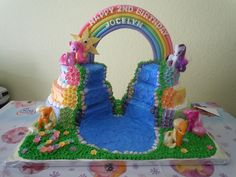 My Little Pony Birthday Cake I made this cake for my daughters birthday. She loves ponies. Monster High Birthday Cake, Pink Birthday Cakes, My Little Pony Party, Double Birthday Parties, 2nd Birthday, Birthday Ideas, Birthday Stuff, Birthday Cake Illustration, Elsa