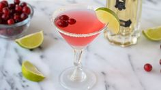 St Germain™ Cranberry Cocktail recipe - from Tablespoon! Cranberry Cocktail, Cosmo Cocktail, Cocktail Drinks, Cocktail Recipes, Cranberry Juice, Drink Recipes, Cocktail Mix, Cocktail Ideas, Vodka Cocktails