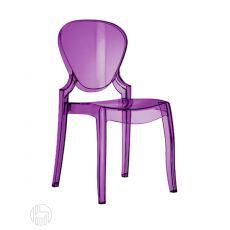 Queen 650 - Stapelbarer Stuhl Pedrali aus Polykarbonat, verschiedene vorrätige Farben, auch mit Sitzauflage