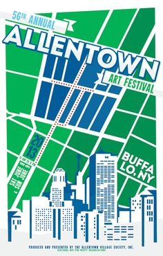 Second Submission for 56th Annual Allentown Art Festival Flyer Contest.