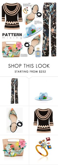 """""""Dare to mix"""" by gabrilungu ❤ liked on Polyvore featuring Emilio Pucci, Laura Apsit Livens, J.Crew, Temperley London, Delpozo and Bella Bellissima"""