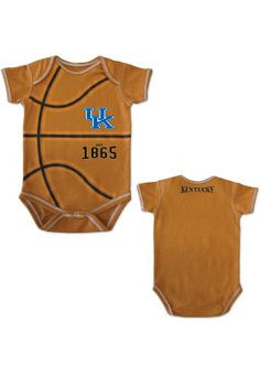 University of Kentucky Infant MVP Basketball Bodysuit.   A newborn is about the size of basketball… right?