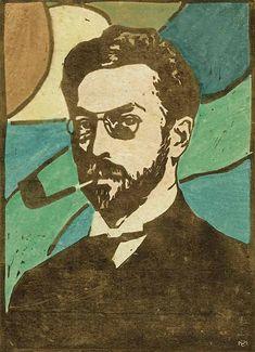 STURM-FRAUEN; Gabriele Münter (1877-1962), Porträt Wassily Kandinsky, 1906