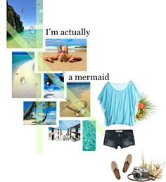 """I'm actually a mermaid"" by gabbylulu on Polyvore"